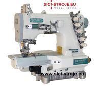 Šicí stroj Coverlock SIRUBA C007JD-W812-356/CRL/UTP krycí steh, ořez, odstřih ( kpl )