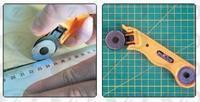 Řezací kolečko na patchwork velké + 2 ks náhradní nožů