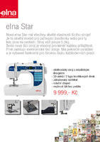 Elna Star - elektronický stroj - NOVINKA