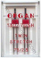 Jehly 130/705H, HAx1 Organ #75/2,5 TWIN STRETCH 2ks plast
