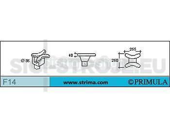 Tvarovka PRIMULA boční mezioperační, dvojitá pro ramenové švy
