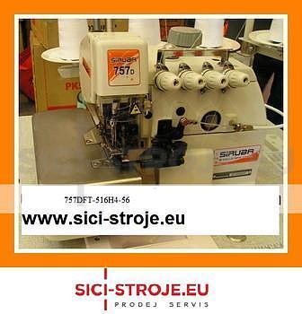 Šicí stroj, overlock SIRUBA 757DFT-516H4-56 5-nitný overlock, horní podávání 5+6m ( kpl ) - 1