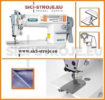 SIRUBA L918-NH1-13 1-jehlový šicí stroj s jehelním podáváním na těžké materiály s odstřihem ( kpl ) plná výbava-VYPRODÁNO