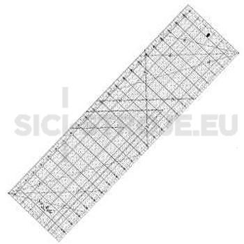 Rastrové pravítko pro quilting a patchwork 6,5x24 palců