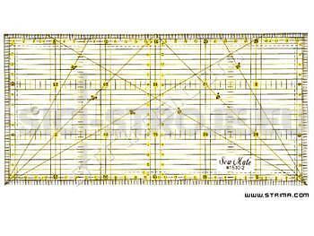 Rastrové pravítko pro patchwork 15x30cm