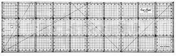 Rastrové pravítko pro patchwork 15x50 cm