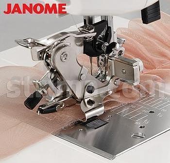 Řasící patka, ruffler Janome pro stroje s rotačním chapačem