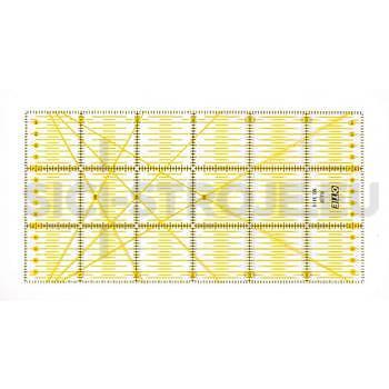 Rastrové pravítko OLFA - OTE pro patchwork 15x30 cm