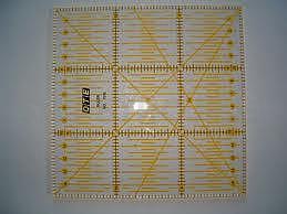 Rastrové pravítko OLFA - OTE pro patchwork 15x15 cm