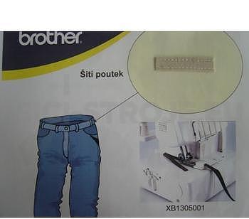 Zakladač pro šití poutek XB1305001 Brother 2340CV