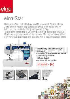 Elna Star - elektronický stroj - NOVINKA - 1