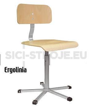 Pracovní židle otočná [dřevěná] - 3 roky záruka - 1