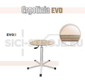 Průmyslová otočná stolička [dřevěná] - pneumatické zvedání - 1