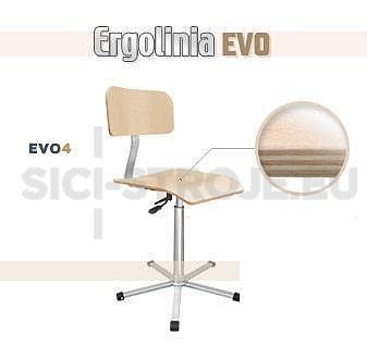 Průmyslová otočná židle dřevěná - pneumatické zvedání - 1