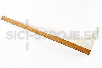 Krejčovské pravítko dřevo/plast, délka 60cm