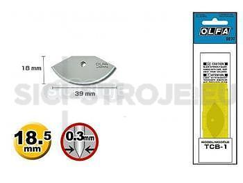 Olfa TEC-1 čepel-Náhradní nůž 1ks pro Olfa TEC-1