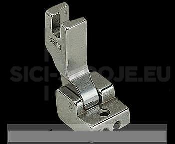 Patka S518 na skrytý zip (všívání skrytého zipu), šířka patky 13,5mm, nejpoužívanější patka na všívání skytého zip