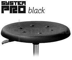 Laboratorní židle sedátko z PUR pěny, BLACK