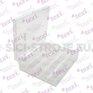 Plastová krabička pro 25 cívek k šicím strojům (bez cívek)