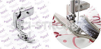 Patka oboustranná úzká pro všívání zipů pro domácí šicí stroje