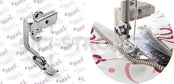Patka oboustranná pro všívání vysokých zipů pro domácí šicí stroje