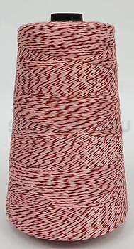 Nitě na pytlovačku 200 g, barva červeno-bílá