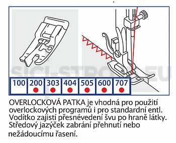Patka overlocková VE07 pro Veronica - 2