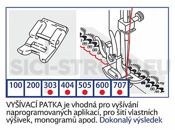 Patka vyšívací VE09 pro Toyota - 2