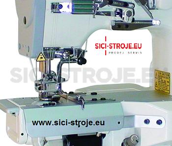 Šicí stroj Coverlock SIRUBA C007JD-W812-356/CRL/UTP/RL krycí steh, ořez, odstřih ( kpl ) - 2