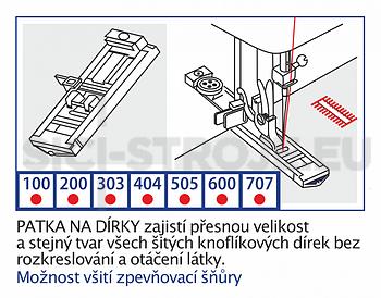 Patka na knoflíkové dírky 4-kroky VE20 - 2