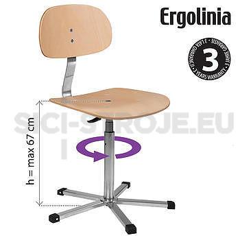 Pracovní židle otočná [dřevěná] - 3 roky záruka - 2