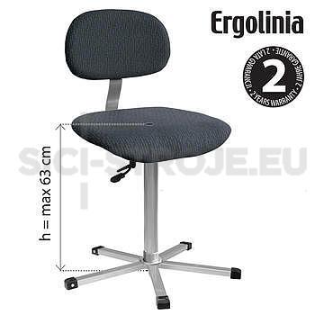 Pracovní židle s polstrováním - pneumatické zvedání - 2