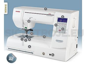 JANOME MEMORY CRAFT 8200QCP SE - ZÁRUKA 5 let - 2