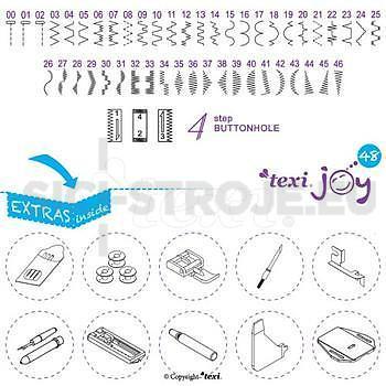 Šicí stroj TEXI JOY 48 - 3