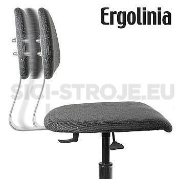 Pracovní židle s polstrováním - pneumatické zvedání - 4