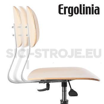 Průmyslová otočná židle dřevěná - pneumatické zvedání - 4