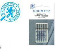 Šicí jehly, jehla určeno pro šicí stroje, nebo šicí stroj stroj LADA, Veronica, Brother, Janome, SINGER (130/705 H-M VAS 60 MICROTEX)