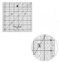 Rastrové pravítko pro patchwork 6.5 x 6,5 inch žlutý popis