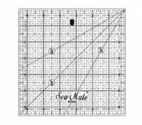 Rastrové pravítko pro patchwork 6.5 x 6,5 inch černý popis